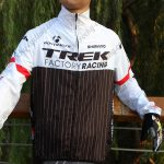 2015 Team TREK Cycling Raincoat Wind-proof White Black