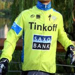 2015 Team Tinkoff SAXO BANK Cycling Raincoat Wind-proof Green