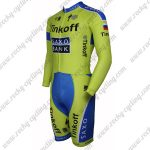 2015 Team Tinkoff SAXO BANK Long Sleeves Triathlon Biking Uniform Skinsuit Green Blue