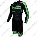 2015 Team cannondale GARMIN Long Sleeves Triathlon Riding Wear Skinsuit Black Green