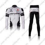 2010 Team Cervelo 3T Cycling Long Suit White