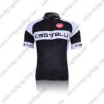 2011 Team Castelli Cycling Jersey Black White