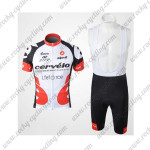 2011 Team Cervelo Cycling Bib Kit White Red