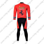 2011 Team FERARI Biking Long Suit Red