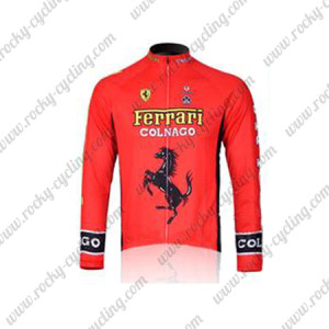 2011 Team FERARI Cycling Long Jersey Red