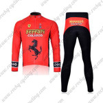 2011 Team FERARI Cycling Long Suit Red