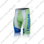 2011 Team LIQUIGAS cannondale Bike Shorts White Green Blue