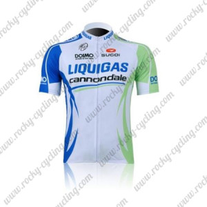 2011 Team LIQUIGAS cannondale Cycling Jersey White Green Blue
