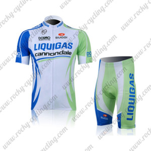 2011 Team LIQUIGAS cannondale Cycling Kit White Green Blue