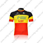 2011 Team LOTTO Cycling Jersey Red Yellow