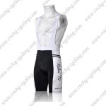 2011 Team Nalini '70 Cycling Bib Shorts White