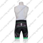 2011 Team TREK Riding Bib Shorts Black White Green