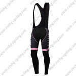 2012 Team SAXO BANK SUNGARD Women's Cycling Long Bib Pants Pink Black