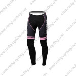 2012 Team SAXO BANK SUNGARD Women's Cycling Long Pants Pink Black