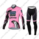 2012 Team SAXO BANK SUNGARD Women's Cycling Long Suit Pink Black