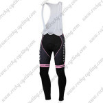 2012 Team SAXO BANK SUNGARD Women's Riding Long Bib Pants Pink Black