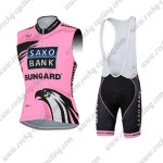2012 Team Tinkoff SAXO BANK Women's Riding Sleeveless Vest Bib Kit Pink