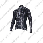 2014 Black Venom Spiderman Riding Long Sleeve Jersey