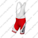 2014 Team BMC Cycling Bib Shorts White Red