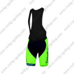 2014 Team Tinkoff SAXO BANK Cycling Bib Shorts Fluo Green Blue
