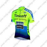 2014 Team Tinkoff SAXO BANK Cycling Jersey Fluo Green Blue