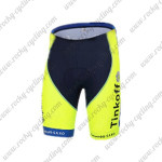 2014 Team Tinkoff SAXO BANK Cycling Shorts Fluorescent Yellow
