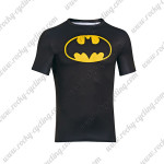 2015 Batman Outdoor Sport Wear Cycling T-shirt Black Yellow