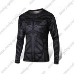 2015 Batman Outdoor Sport Wear Long Sleeves Cycling T-shirt Black