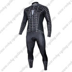 2015 Black Venom Spiderman Cycling Long Sleeve Kit