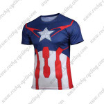 2015 Captain America 2 Outdoor Sport Wear Cycling T-shirt