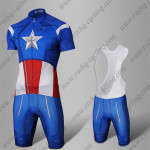2015 Captain America Biking Wear Blue Red