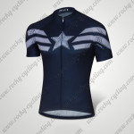 2015 Captain America Cycling Jersey Dark Blue