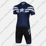 2015 Captain America Cycling Kit Dark Blue