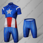 2015 Captain America Riding Suit Blue Red