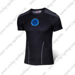 2015 IRON MAN Outdoor Sport Clothing Cycling T-shirt Black