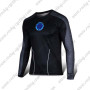 2015 IRON MAN Outdoor Sport Clothing Long Sleeves Cycling T-shirt Black