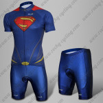2015 Superman Cycling Kit Blue