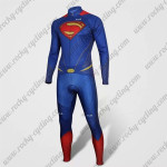 2015 Superman Cycling Long Kit Blue Red