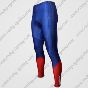 2015 Superman Cycling Long Pants Blue Red