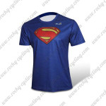 2015 Superman Outdoor Sport Biking T-shirt Blue
