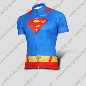 2015 Superman Returns Cycling Jersey Blue Red