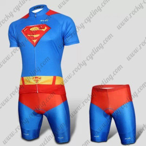 2015 Superman Returns Cycling Kit Blue Red