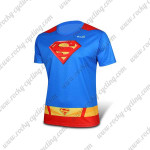 2015 Superman Returns Outdoor Sport Biking T-shirt Blue