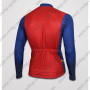 2015 Superman Riding Long Jersey Tops Blue Red
