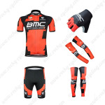 2015 Team BMC Cycling Kit+Gloves+Arm Warmers+Leg Warmers Red Black
