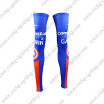 2015 Team Cannondale GARMIN Cycling Leg Warmers Sleeves Blue Red