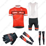 2015 Team Castelli Cycling Bib Kit+Gloves+Arm Warmers+Leg Warmers Red
