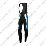 2015 Team Castelli Cycling Long Bib Pants Black Blue