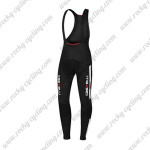 2015 Team Castelli Riding Long Bib Pants Black White