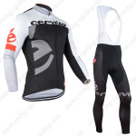 2015 Team Cervelo Cycling Long Bib Kit Black